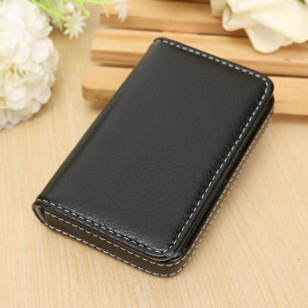 Waterproof Business ID Credit Card Wallet Holder Aluminum Metal Pocket Case Box Black - Intl