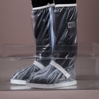 Waterproof Non-slip Motorcycle Cycling Rain Boot Rain Shoe Covers -Clear - intl