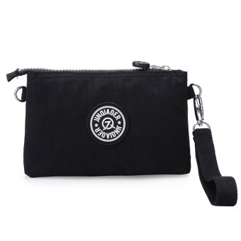 Waterproof Nylon Handbag Shoulder Diagonal Bag Messenger Black - picture 2