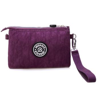Waterproof Nylon Handbag Shoulder Diagonal Bag Messenger Purple - picture 2
