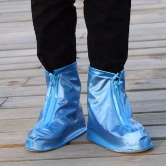 Waterproof Rain Shoe Cover - Large EU: 38-41 (Blue)