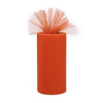 Wedding Bow Fabric Tulle Roll (Orange)