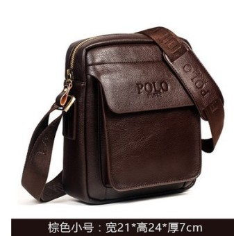 Where the customer Paul Stylish leather youth casual backpack shoulder bag (99125-1 brown small)