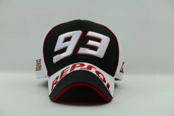 White F1 moto gp motorcycle Marquis 93 repsol baseball hat caphiphop snapback golf sunhat large size (black) - intl Price Philippines