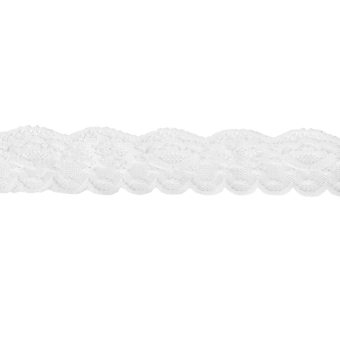 White Mesh Floral Lace Trim 5 Yards 1.57 Inch Wide - Intl
