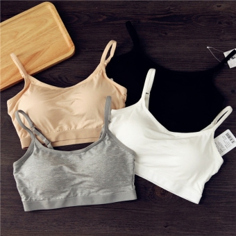 White thin section female anti-straps bra (New style gray [bra] modal feel)