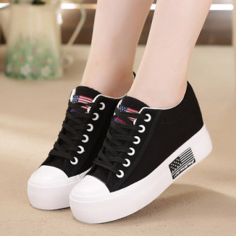White within the higher wild casual shoes heavy-bottomed platform shoes (Black) Price Philippines