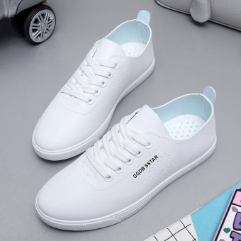 Wild female breathable flat shoes white shoes (White)