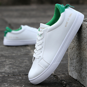 Wild leather autumn New style men shoes Shoes (8128 white and green)