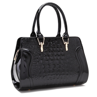 Winter New style crocodile Pattern Bag (Black)