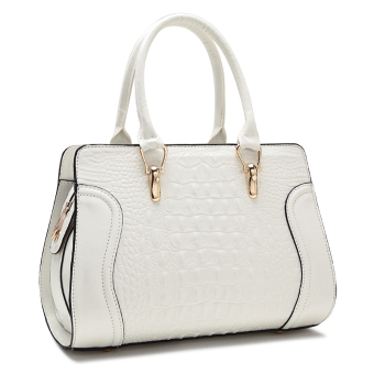 Winter New style crocodile Pattern Bag (White)