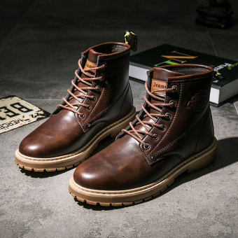 Winter to help Dr. Martens men's shoes (Dark Brown)