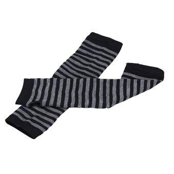 Winter Wrist Arm Hand Warmer Knitted Long Fingerless Gloves MittenBlack - 4