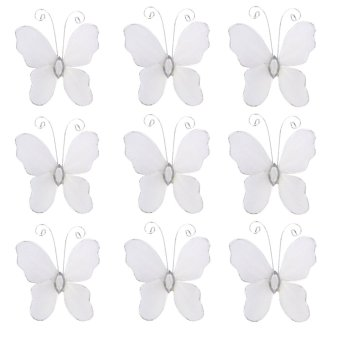 Wired Butterflies Stocking Mesh Set tof 50 (White) - picture 2