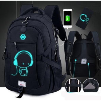 With mobile phone charging and anti-theft function computer bag,shoulder bag, backpack, student bag - intl