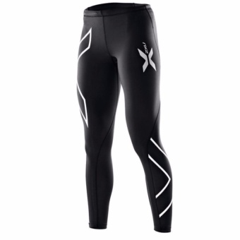 Women 2Xu Professional Pants Trousers Compression Speed DryNylonstretch Fitness Pants (Silver) - intl