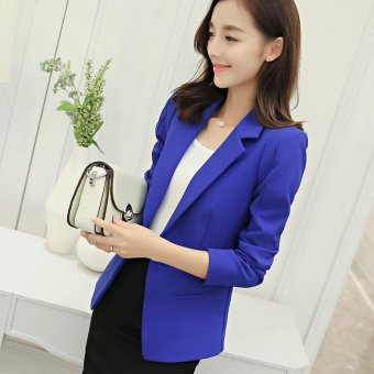 Women Blazers Jackets Suit Spring Autumn Single Button FemaleLadies Blazer(White) - intl - 2