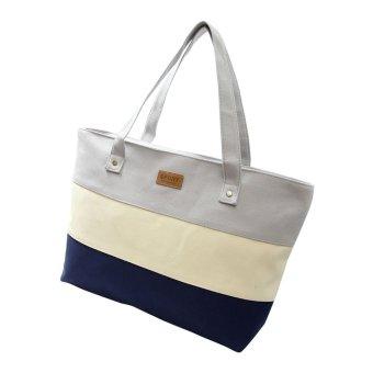 Women Canvas Handbags Shoulder Messenger Bags Gray - Intl