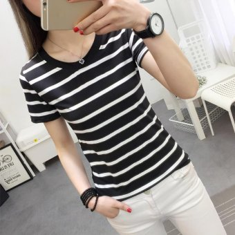 Women casual short sleeve striped t-shirt - intl - 4