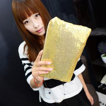Women Clutch Dazzling Sequins Handbag Gold