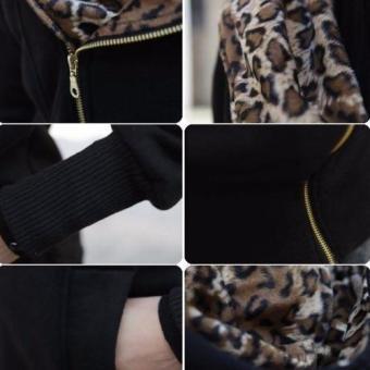Women Coats Lady Winter Warm Hoodies Sweatshirt Slim Fit Long Outerwear(Black) - intl - 3