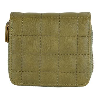 Women Coin Card Purse Zipper Short Wallet Pouch Army Green - intl