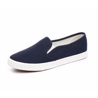 Women Fashion Slip on Loafer - Navy Blue - 3