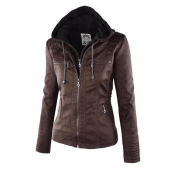 Women Fashion Winter Slim Zipper Leather Jacket - intl - 3