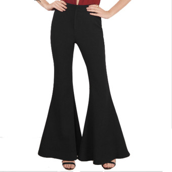 Women High Waist Flare Wide Leg Long vintage Pants Palazzo Trousers - intl - 3