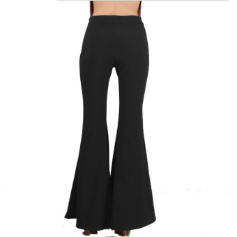 Women High Waist Flare Wide Leg Long vintage Pants Palazzo Trousers - intl - 2