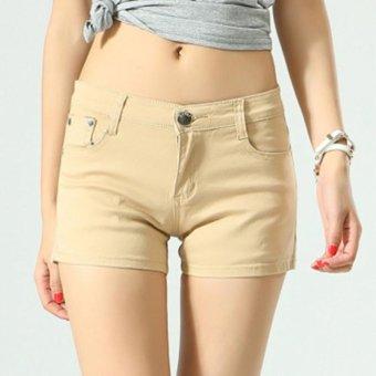 Women Ladies Candy Color Shorts Summer Denim Short Pant Jeans -intl - 2