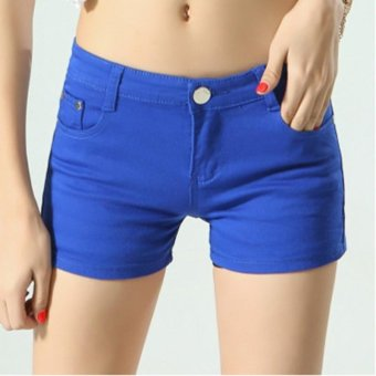 Women Ladies Candy Color Shorts Summer Denim Short Pant Jeans -intl - 4