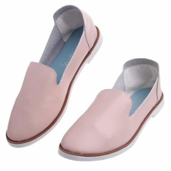 Women Loafers Ladies Flat Shoe Leisure Flat Slip-on Low-Cut UppersElegant Shoes - intl