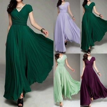 Women Long Formal Evening Prom Party Bridesmaid Chiffon Ball Gown Cocktail Dress - intl - 3