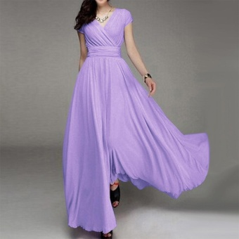 Women Long Formal Evening Prom Party Bridesmaid Chiffon Ball GownCocktail Dress - intl