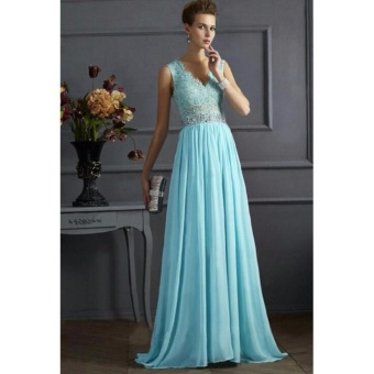 Women Long Formal Prom Dress Cocktail Party Ball Gown EveningBridesmaid Dress - intl - 2