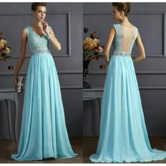 Women Long Formal Prom Dress Cocktail Party Ball Gown EveningBridesmaid Dress - intl