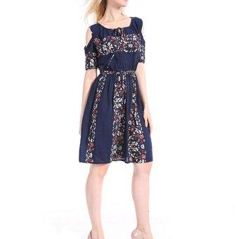 Women Maxi Dress Short Sleeve Plus Size 6XL Bodycon Party Dresses - intl - 3