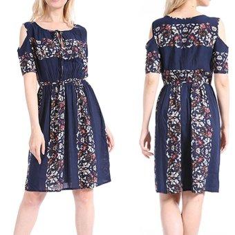 Women Maxi Dress Short Sleeve Plus Size 6XL Bodycon Party Dresses - intl - 5