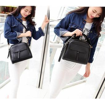 Women Messenger Bag Vintage Bag Tote Shell Bolsas Lady Pouch(black) - 3