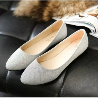 Women OL Slip On Loafers Casual Glitter Ballet Ballerina Flats Shoes Candy Color Price Philippines