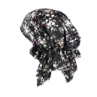 Women Printing Cancer Chemo Hat Beanie Scarf Turban Head Wrap Cap -intl