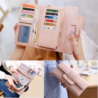 Women PU Leather Wallet Ladies Card Coin Holder Long Purse - intl