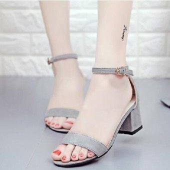 Women Sandals Shoes Woman Flat 2016 Summer Ankle Strap Ladies Shoes-grey - intl