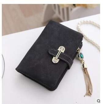 Women Short Purse Fashion Retro Matte Stitching Wallet Clutch WomenCasual Hasp Dollar Price Wallet Handbag Army Green - intl - 5