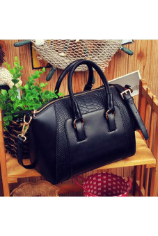 Women Shoulder Bag Faux Leather Satchel Cross Body Tote HandbagBlack