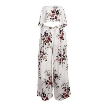 683fb2a4e95 Women Summer Beach Bohemian Printed Off Shoulder Long Split Maxi Dress ...