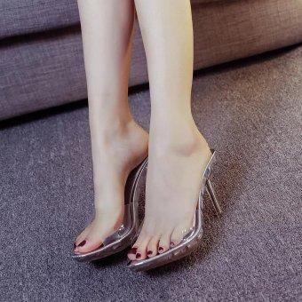 Women Summer Fashion Transparent High Heel Sandals Size 35-39(silver) - intl - 5