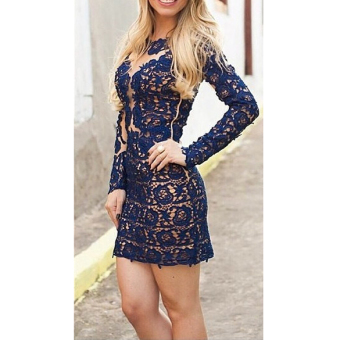 Women Summer Lace Evening Sexy Party Cocktail Mini Dress