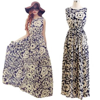 Women Summer Long Dress Evening Party Dress Beach Dresses ChiffonDress